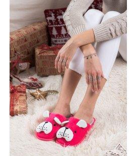 Zateplené papuče s psíkom