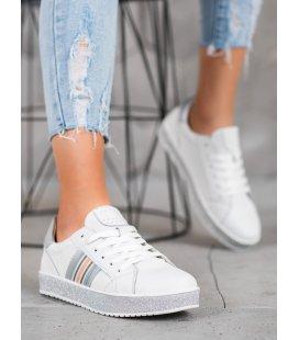 Kožené sneakersy s brokátovou platformou