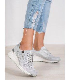 Strieborné sneakersy s brokátom