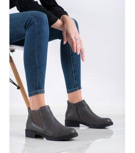 Šedé topánky na zips