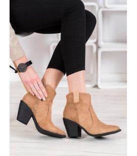 Módne členkové topánky do špičky
