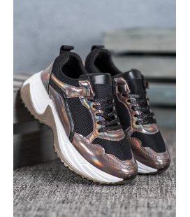 Fashion sneakersy s efektom holo