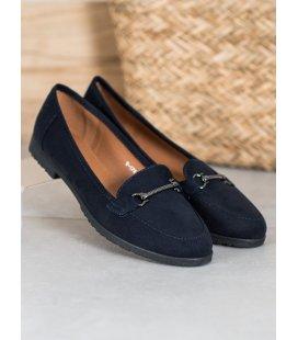 Tmavo-modrá semišová obuv