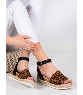 Sandále s leopardím vzorom