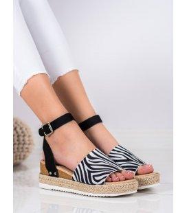 Sandále so zebrovaným vzorom