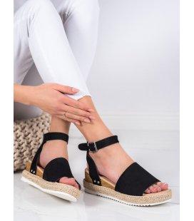 Ćierne sandále na kline