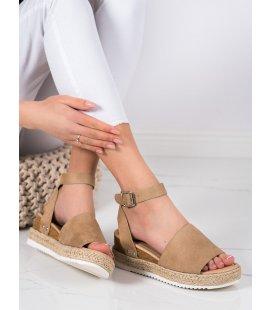 Béžové sandále na kline