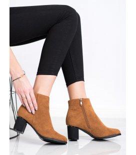Semišové topánky hnedé