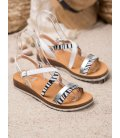 Sandálky so zebrovanou potlačou