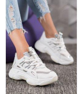 Biele tenisky z eko kože
