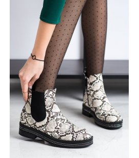 Členkové topánky na platforme s kamienkami