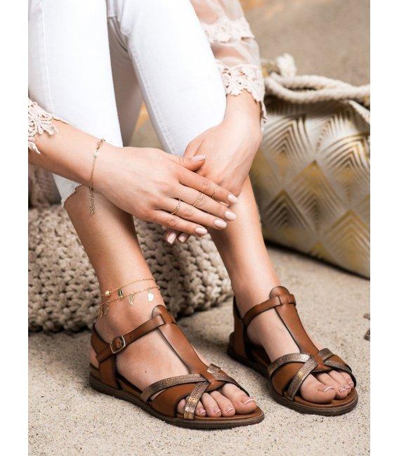 Hnedé sandálky