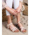 Pohodlbné béžové sandálky