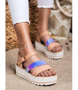 Sandálky na platforme s efektom holo