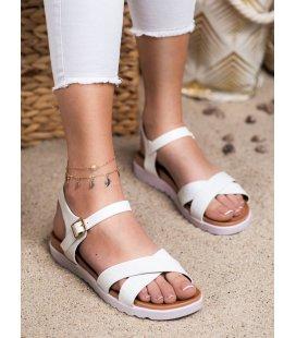 Biele sandálky z eko kože