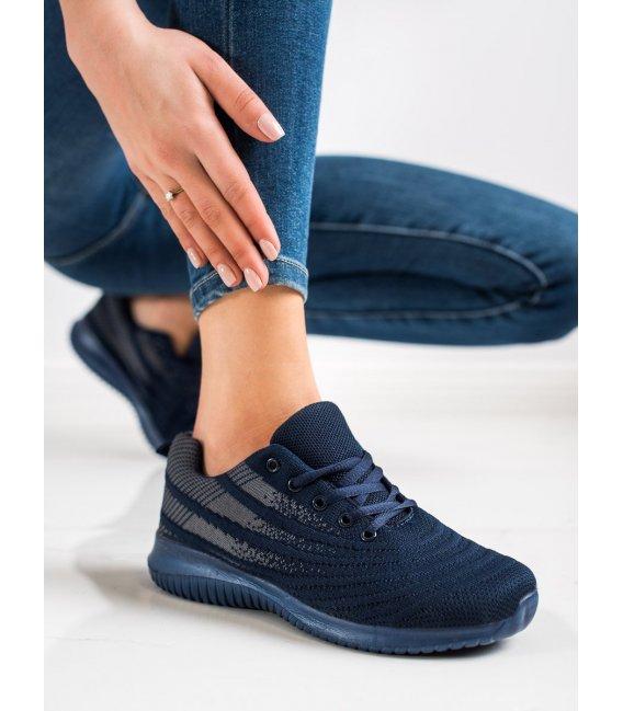 Ľahké tmavomodré športové topánky