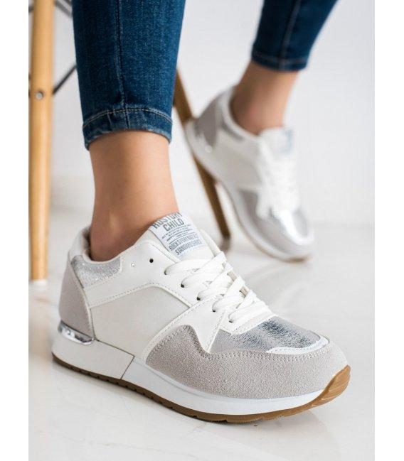 Štýlovo bielo-šedé sneakersy