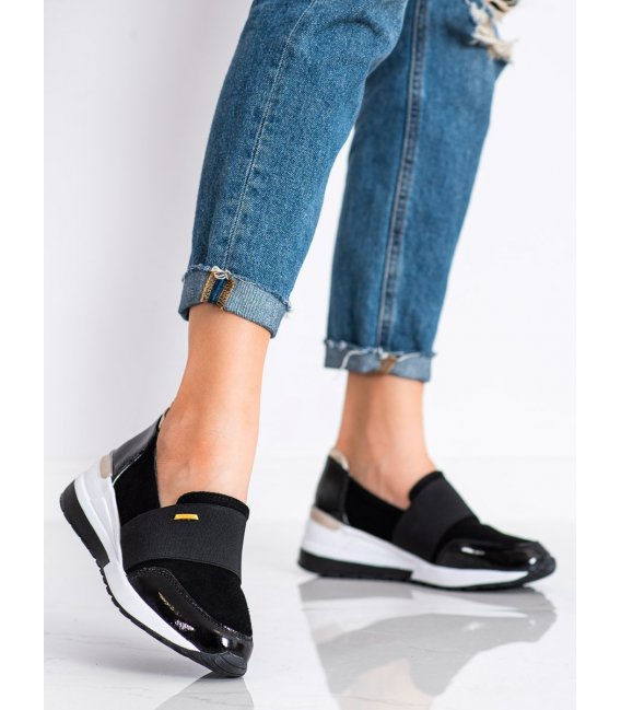 Čierne sneakersy z kože