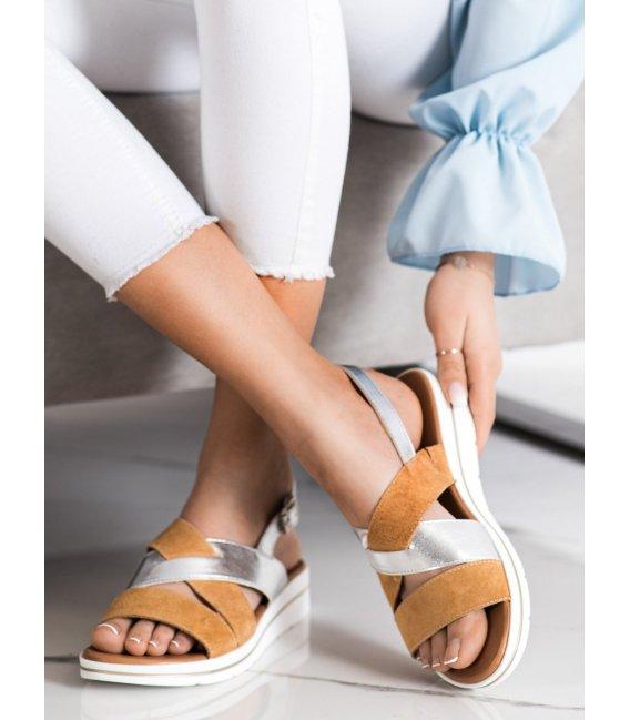 Módne sandálky s prackou Sergio Leone