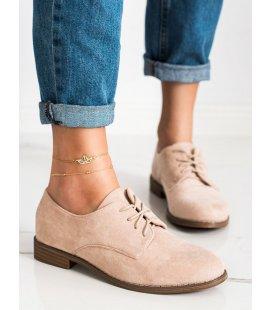Šnurovacie topánky zo semišu
