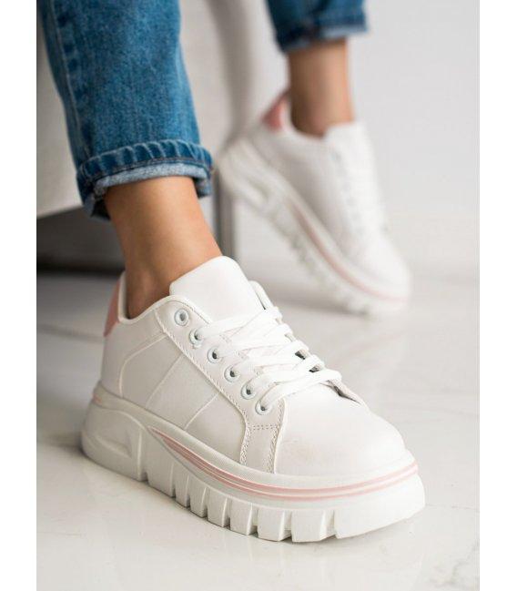 Biele tenisky na platforme