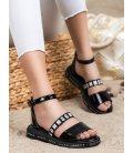 Čierne sandálky Fashion