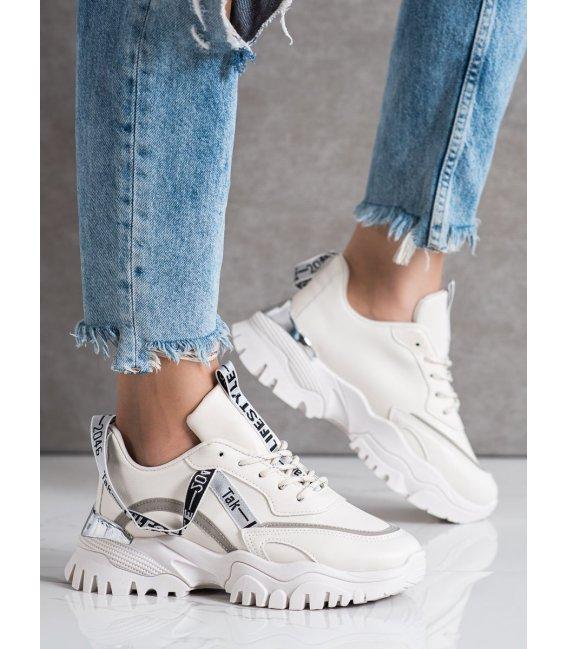 Béžové sneakersy Fashion