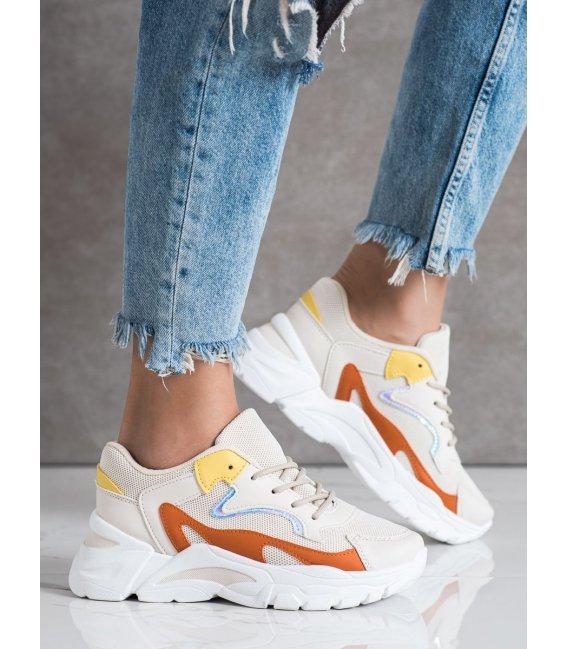 Neformálne béžové sneakersy