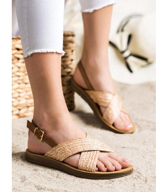 Pohodlné pletené sandálky