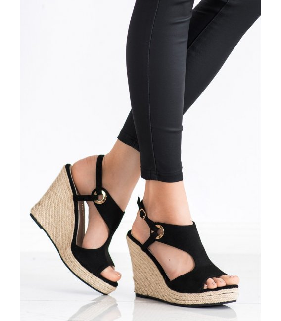 Plné sandálky espadrilky