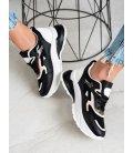 Štýlové čierne sneakery