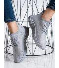 Šedé textilné sneakersy