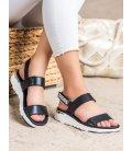 Kožené sandálky na zips