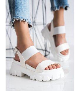 Biele sandálky na platforme Fashion