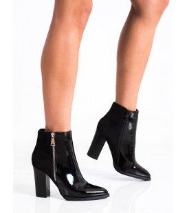 Štýlové členkové topánky s ozdobným zipsom
