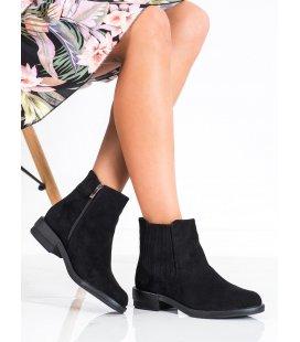 Klasické členkové topánky na plochom podpätku