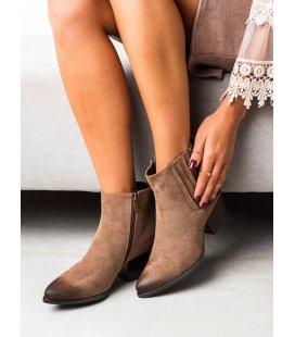 Hnedé casualové členkové topánky