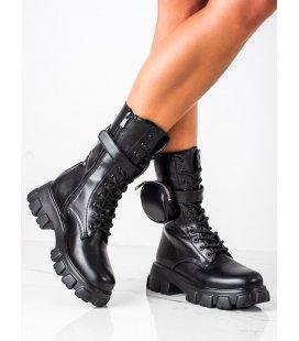 Módne členkové topánky s kapsičkou