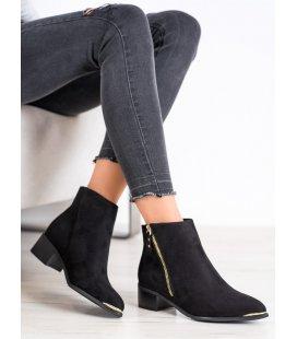 Štýlové členkové topánky na zips