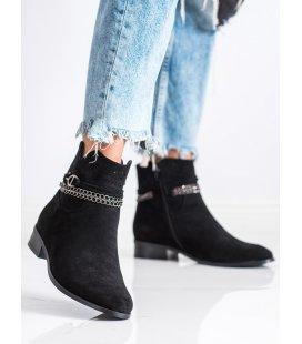 Členkové topánky s ozdobnou retiazkou
