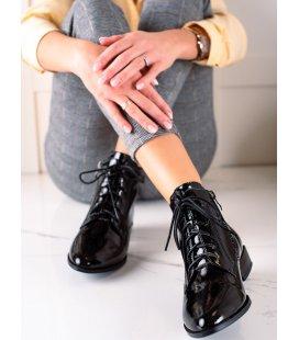 Elegantné kožené členkové topánky