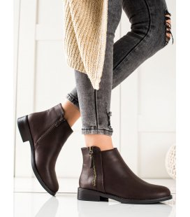 Hnedé topánky na zips