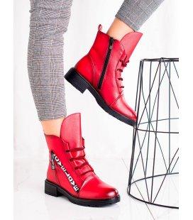 Módne červené členkové topánky